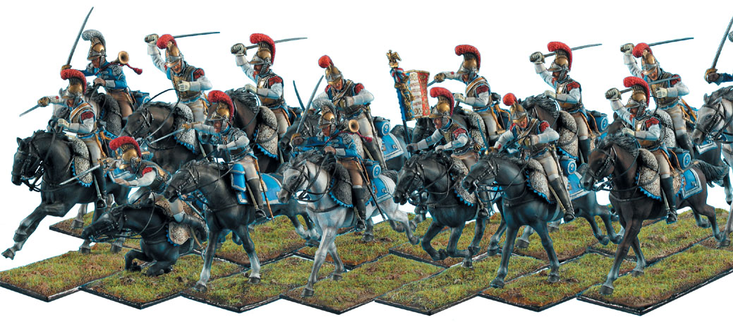 First Legion Toy Soldiers - French Carabiniers Cavalry Charging