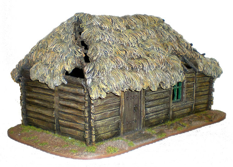 Ter001 Russian Village House With Thatched Roof